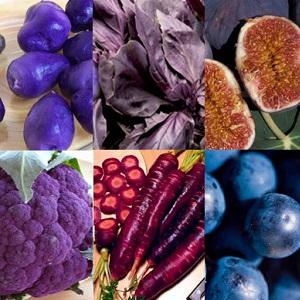 Фиолетовые овощи и фрукты признали самыми аппетитными