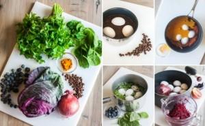 Натуральные красители для яиц на Пасху